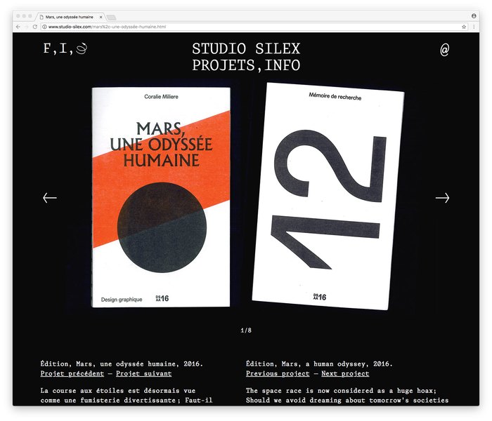 Studio Silex website/identity 2