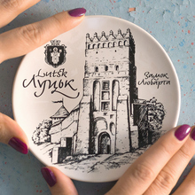 Lutsk set of decorative plates and postcards