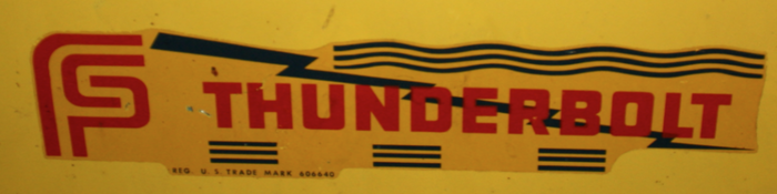 A later variation of the decal with the Federal Sign & Signal logo, as seen on a siren.  Raymond D. Woods, Jr. has made a digital reconstruction of this version.