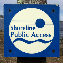 Public signs in Bristol, Rhode Island