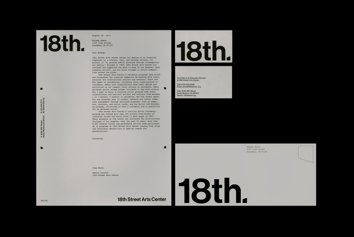 18th Street Arts Center identity (fictional) 2