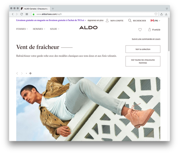"""We also created a new communication program for Aldo based on layered, collage-based art direction and photography. It was launched with an in-house campaign shot by celebrated photographer Julia Noni."" — Collins"