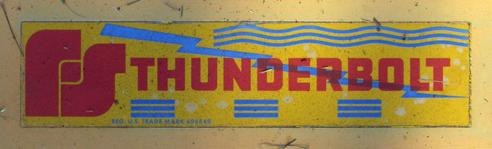 """Another variation with the Federal Signal logo. The """"Thunderbolt"""" letterforms appear to be unchanged."""