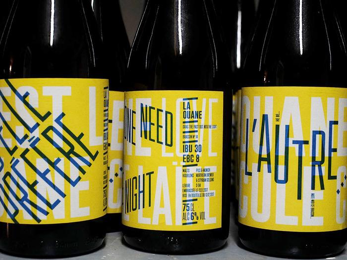 La Ouane beer labels 2