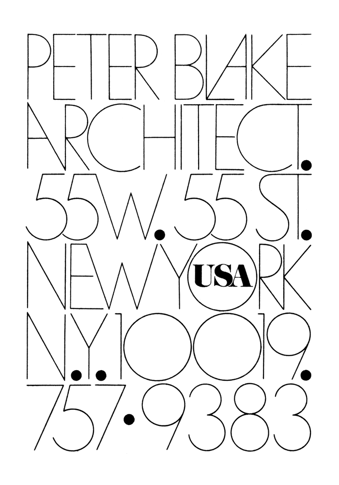 Peter Blake Architect logo