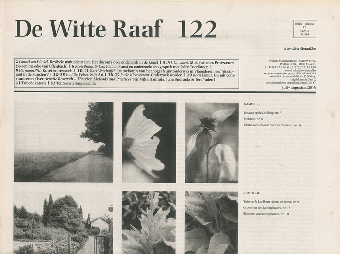Nr. 122, July–August 2006 was one the first issues designed by Inge Ketelers using Photina.