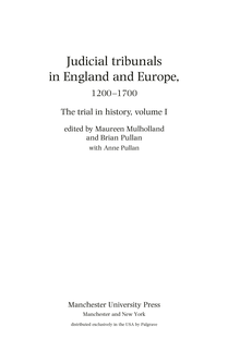 <cite>The trial in history</cite>, Manchester University Press