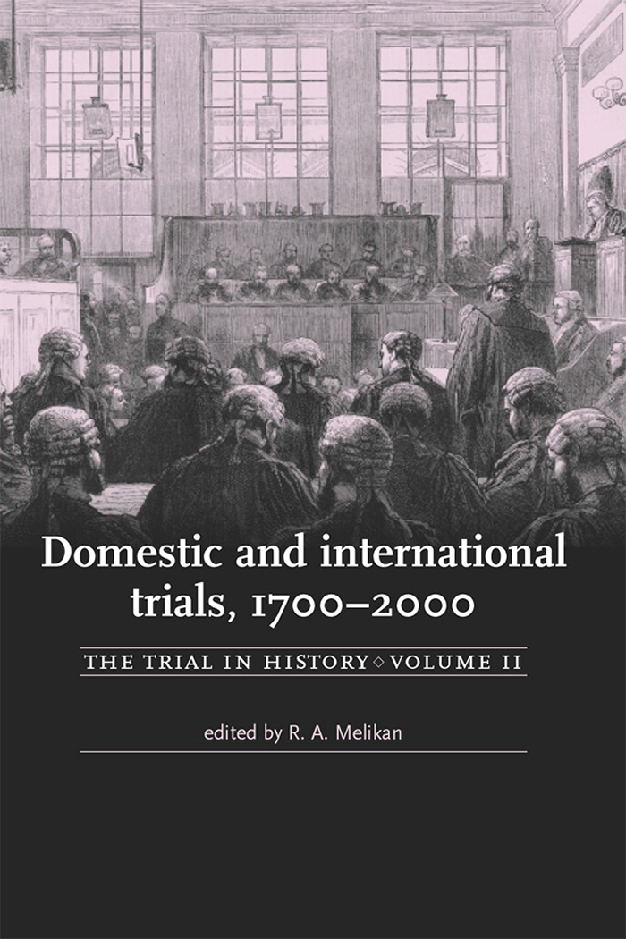 The trial in history, Manchester University Press 6