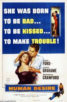 <cite>Human Desire</cite> (1954) movie poster