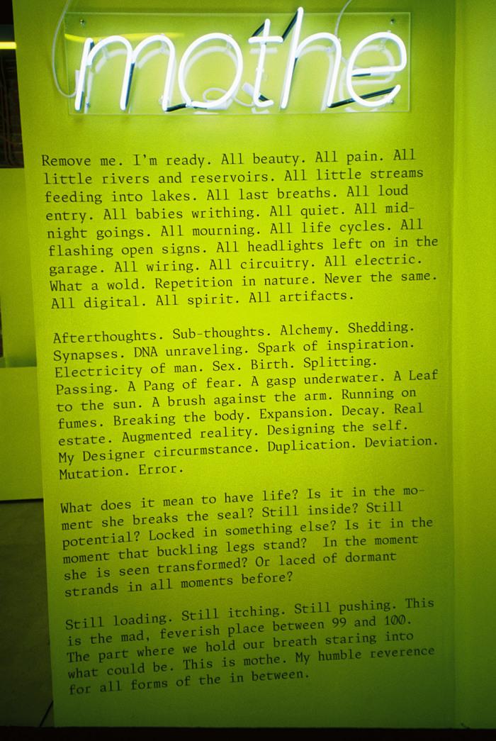 Kilo Kish — Mothe installation and poster 2
