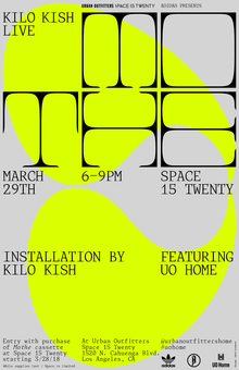 Kilo Kish — <cite>Mothe</cite> installation and poster