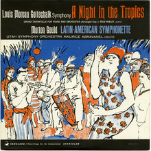 <cite>A Night in the Tropics</cite> <cite>/ Latin-American Symphonette </cite>album art