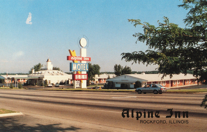Alpine Inn, Rockford, Illinois postcard