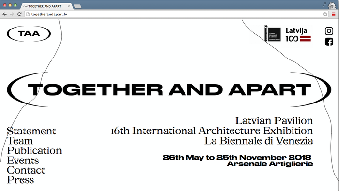 Together and apart – Latvian Pavilion website 2