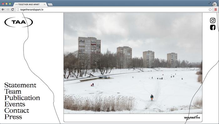Together and apart – Latvian Pavilion website 4