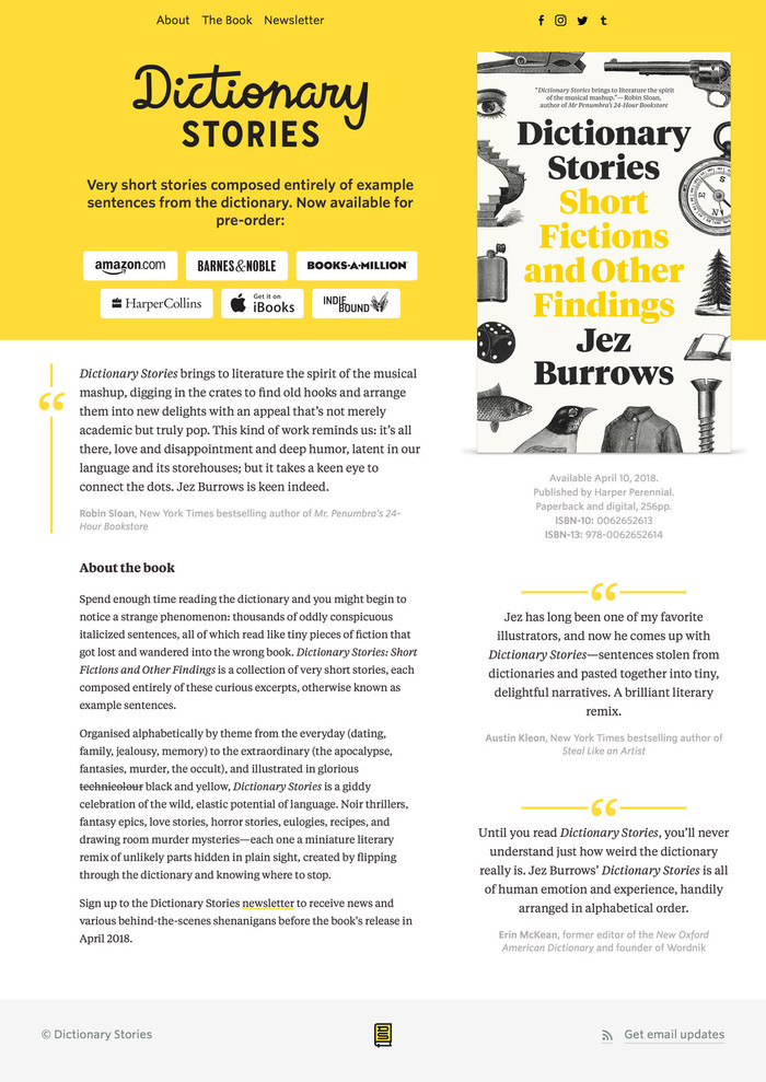 Dictionary Stories by Jez Burrows 3