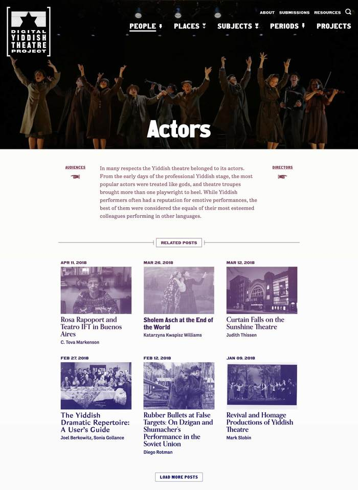 Digital Yiddish Theatre Project 4