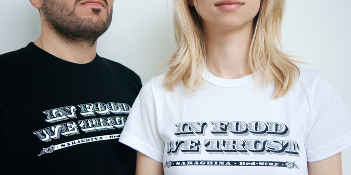 """In Food We Trust"" T-shirts and stickers 3"