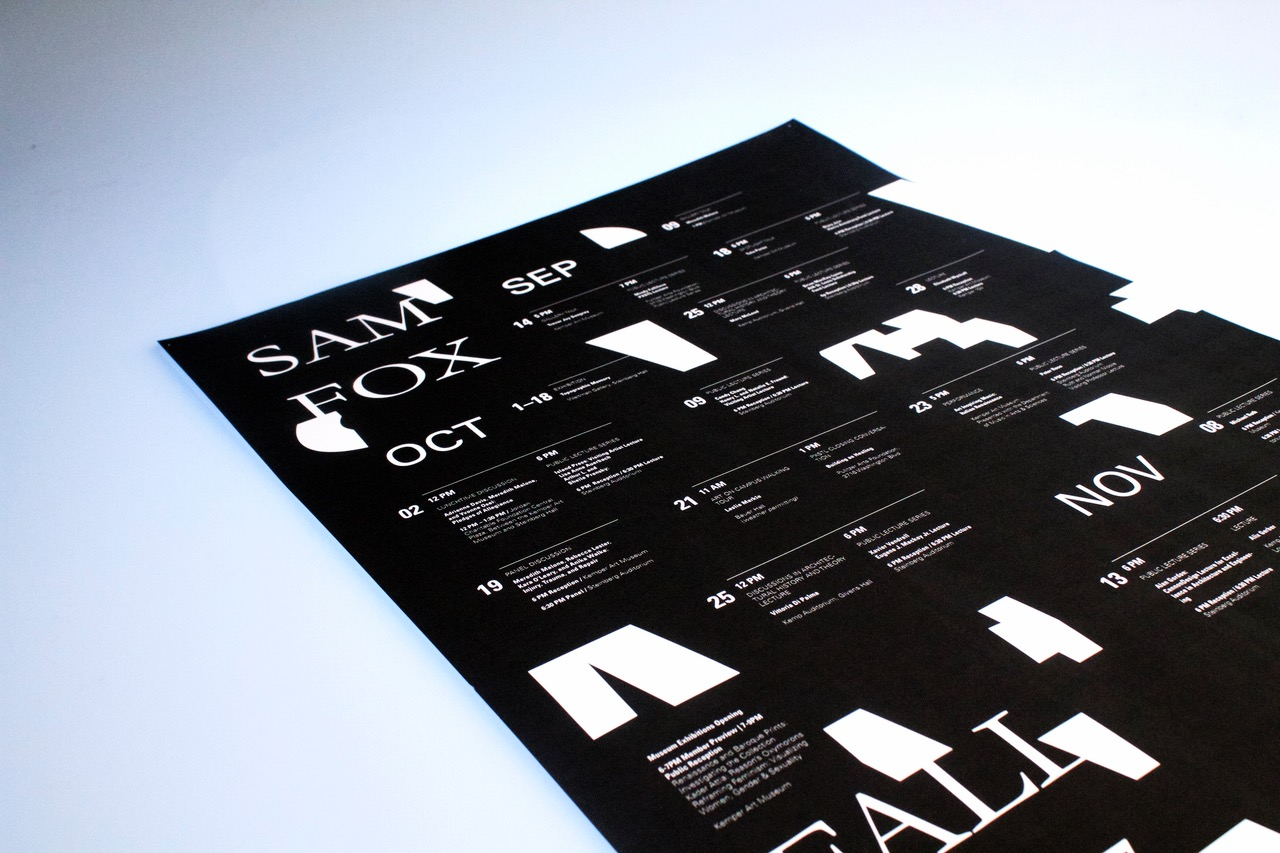 Sam Fox Fall 2017 calendar - Fonts In Use