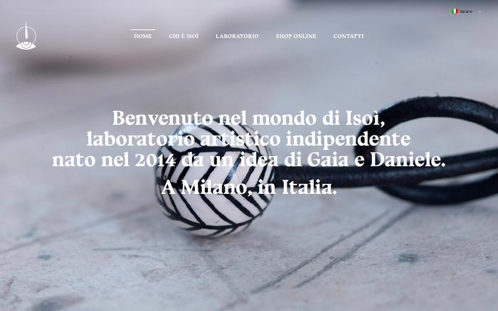 brand story website: isoi.co