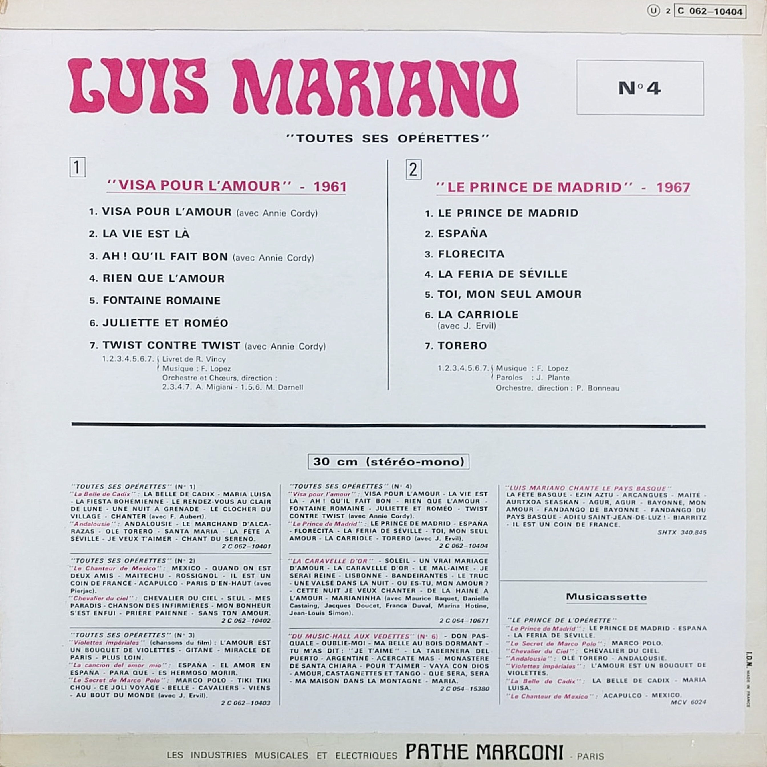 Luis Mariano – Toutes Ses Opérettes Nº 1–4 - Fonts In Use