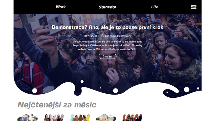 Studenta.cz website 2