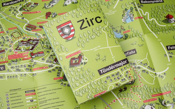 Zirc tourist map 1