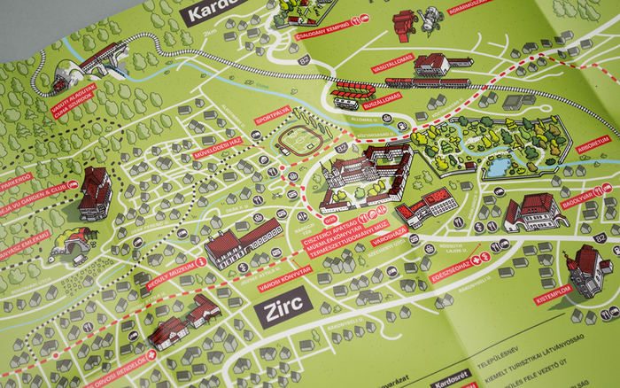 Zirc tourist map 2