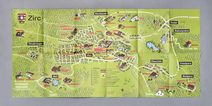 Zirc tourist map 3