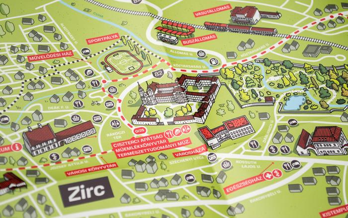 Zirc tourist map 6