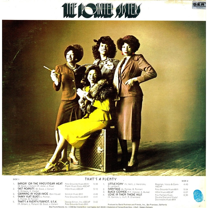 That's A Plenty – The Pointer Sisters 2