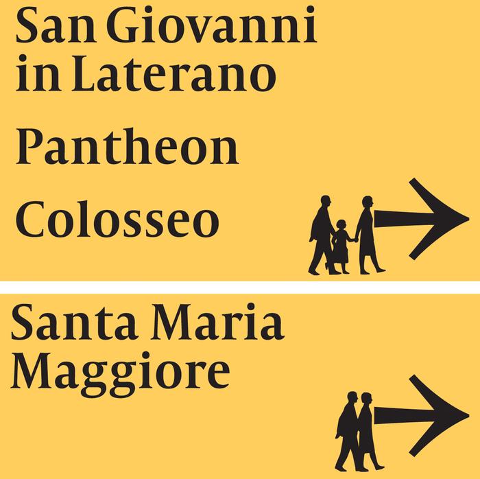 Capitolium signs and typeface 1