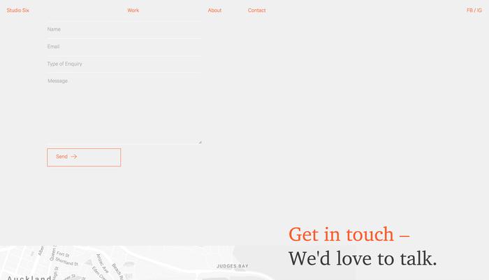 Studio Six website 3