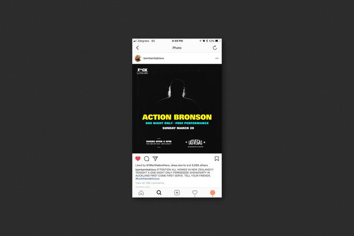 Action Bronson gig poster 2