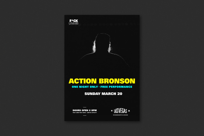 Action Bronson gig poster 1