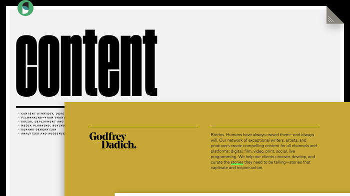 Godfrey Dadich Partners website 8