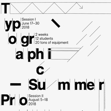 Typographic Summer Program poster