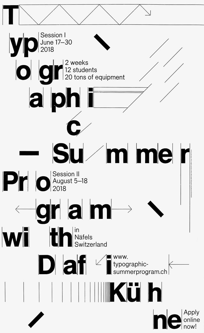 Typographic Summer Program poster