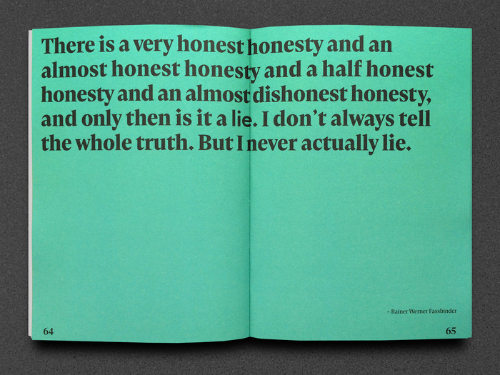 Quote by Rainer Werner Fassbinder — can you spot the word in sans serif letters?