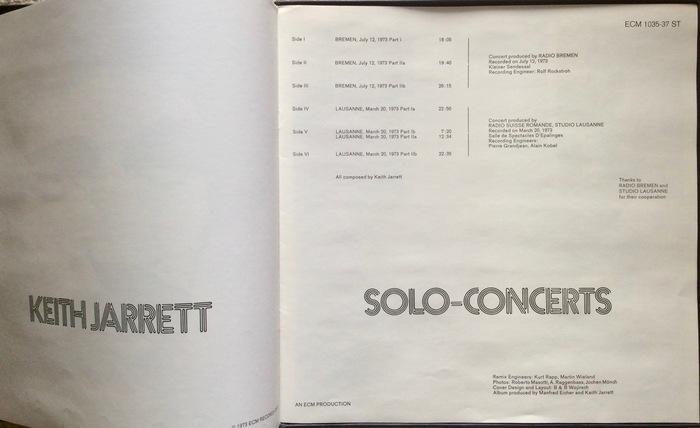 Keith Jarrett — Solo-Concerts 2