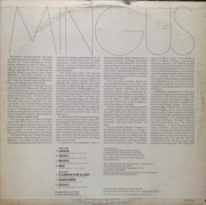 Charles Mingus — Mingus Moves album art 2