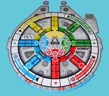 <cite>Sorry!</cite> Star Wars Millennium Falcon game board