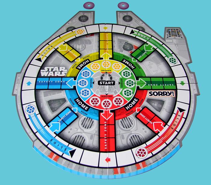 Sorry! Star Wars Millennium Falcon game board 1