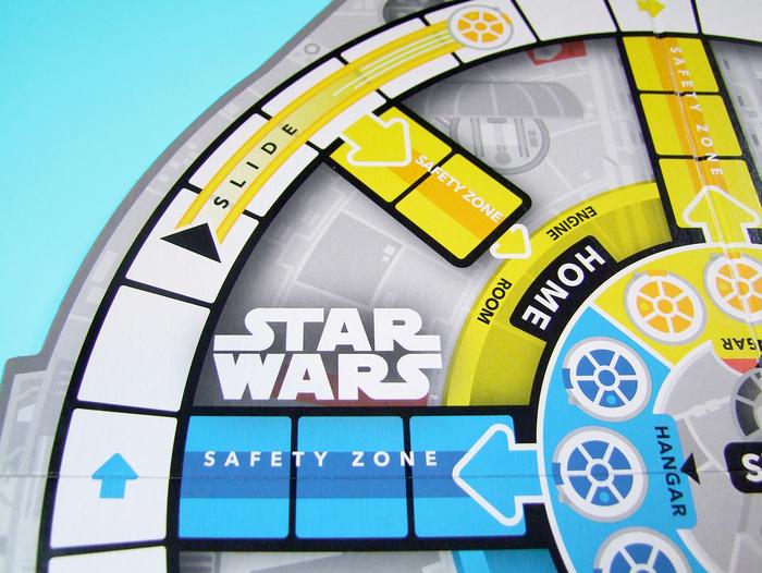 Sorry! Star Wars Millennium Falcon game board 4