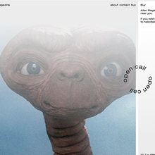 <cite>Alien Magazine</cite> website