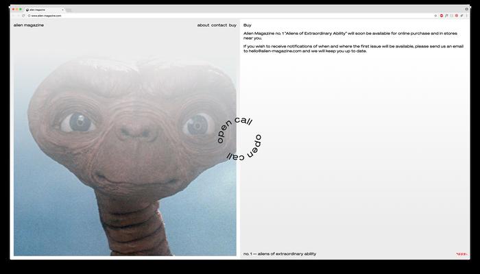 Alien Magazine website 3