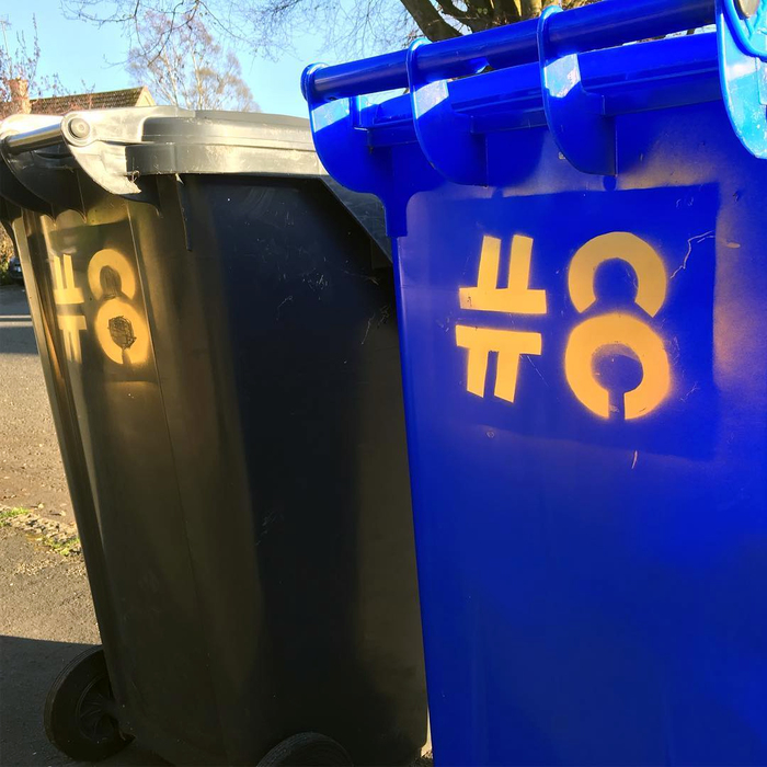Chris McMahon's wheelie bins