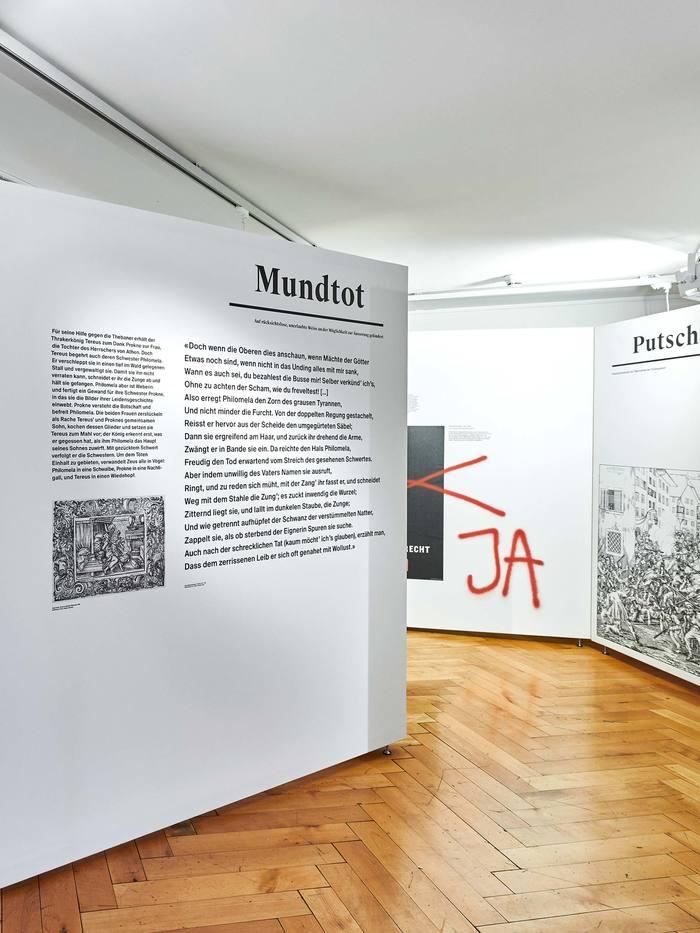 Das Wort exhibition at Strauhof 8