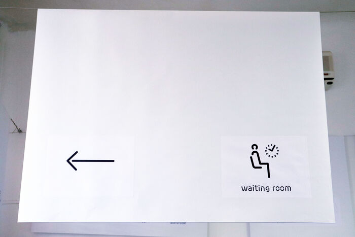Waiting room pictogram