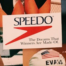 Speedo logo and magazine ad (1990s)